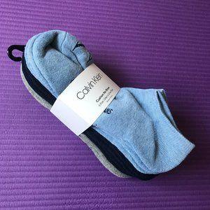 Calvin Klein 6 Pairs Mens Cushion No Show Socks